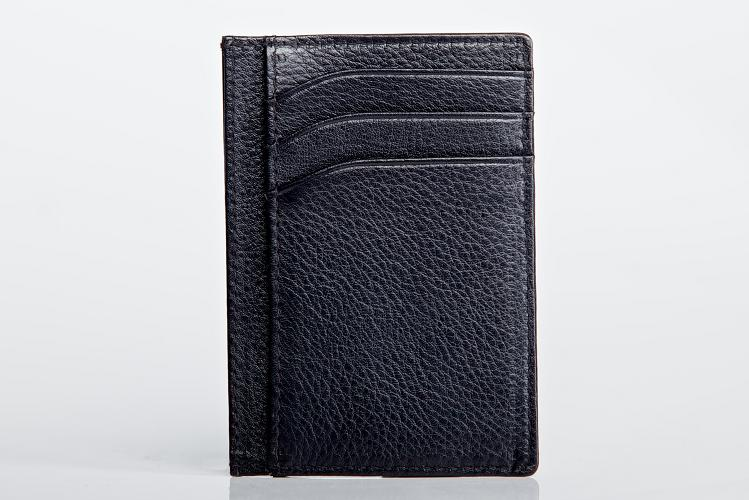Multi card holder with central slip in section
