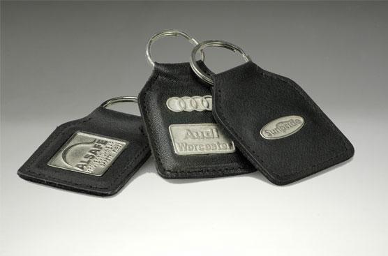 Metal Badge Keyring – min qty 100