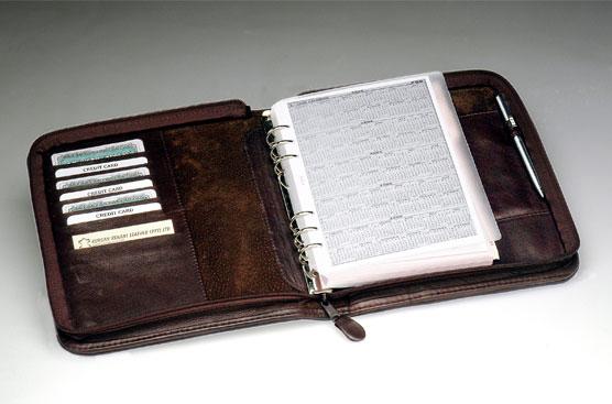 2021zip-leather folders